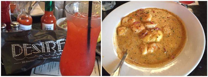 Shrimp & Grits @ Desire Oyster Bar