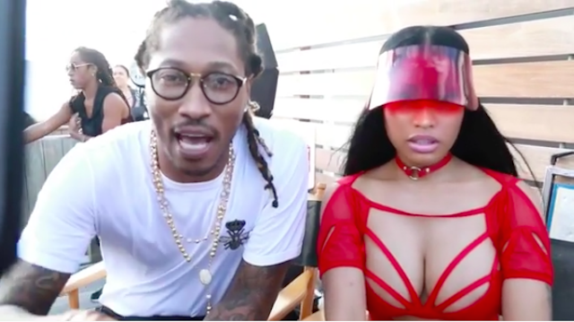 Nicki Minaj and Future on set of video