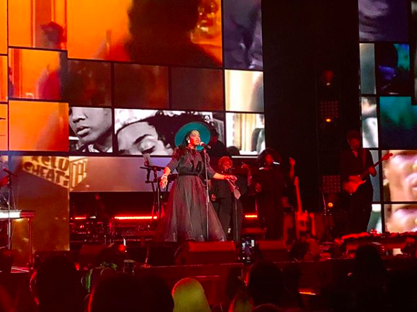 Lauryn Hill performing live in New Orleans, Oct. 3, 2018
