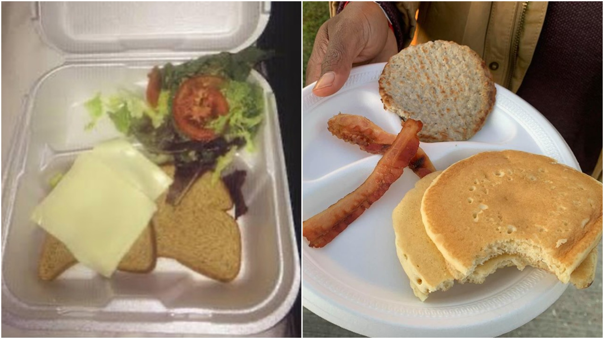 Food from Fyre Festival compared to food from Kanye West's Brunchella