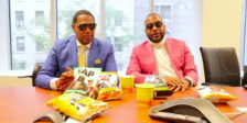 Master P and James Lindsay with Rap Snacks