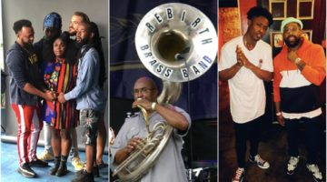 Tank and The Bangas, Rebirth Brass Band, and Lucky Daye and PJ Morton side by side