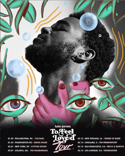 Luke James to feel love tour artwork